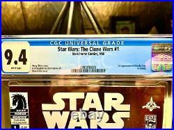 Star Wars The Clone Wars #1 2008 Dark Horse CGC 9.4 NM 1st App Ahsoka Tano