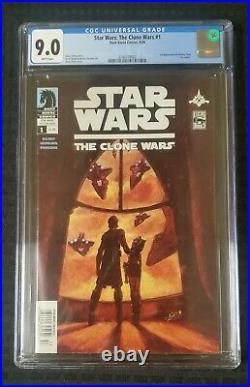 Star Wars The Clone Wars #1 CGC 9.0 Dark Horse 1st Ahsoka Tano Newsstand Rare