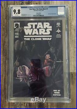 Star Wars The Clone Wars 1 Cgc 9.8 Variant 1st Ashoka 1000 Special Edition
