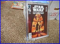 Star Wars The Clone Wars 1 cgc 9.6 1st appearance of Ahsoka Tano Dark Horse 2008