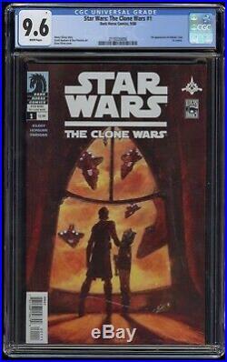 Star Wars The Clone Wars (2008) #1 CGC 9.6 Blue Label White Pgs 1st Ashoka Tano