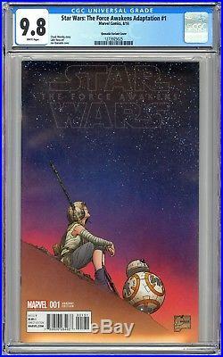 Star Wars The Force Awakens Adaptation #1 Cgc 9.8 Nm/mt 1100 Quesada Variant