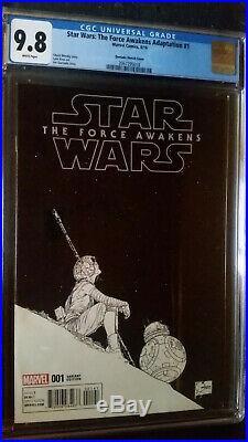 Star Wars The Force Awakens Adaptation #1 Quesada Sketch Variant CGC 9.8 1300