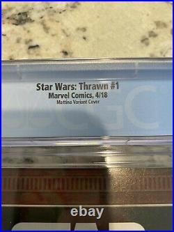Star Wars Thrawn #1 MARVEL COMICS 150 Francesco Mattina Variant! CGC 9.6