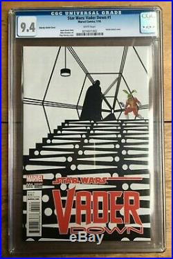 Star Wars Vader Down #1 14999 Zdarsky Sketch Cover CGC 9.4 0274911002