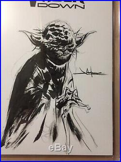 Star Wars Vader Down #1 CGC 9.8 Yoda Sketch Signed Jae Lee SS Star Wars