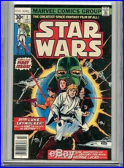 Star Wars Vol 1 1 CGC 9.4 SS Stan Lee Marvel Luke Skywalker Han Solo Darth Vader