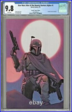 Star Wars War of the Bounty Hunters Alpha #1 CGC 9.8 Pichelli Virgin Variant 501