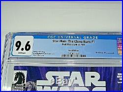 Star Wars the Clone Wars #1 1st Ashoka Tano DH100 variant (only 1000) CGC 9.6