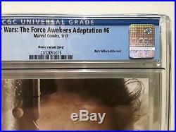 Star Wars the Force Awakens # 6 115 Daisy Ridley Photo Variant CGC 9.8 RARE HTF